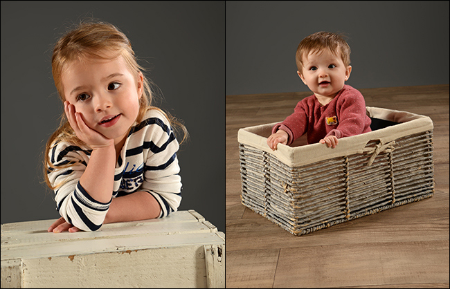 Shooting photo d'enfants en studio professionnel