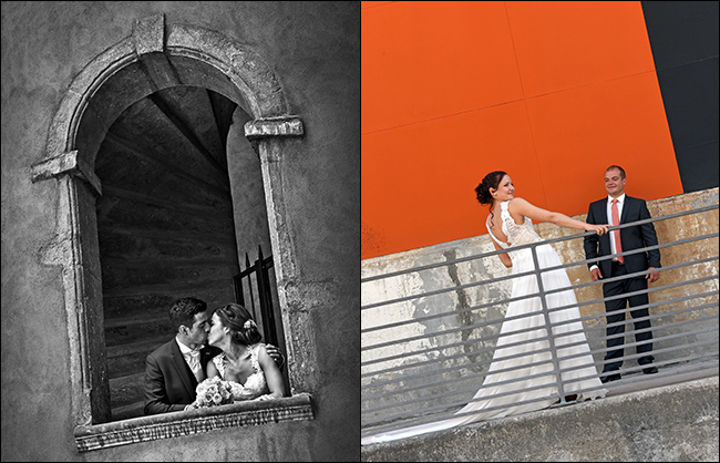Shooting photo de mariage en duo